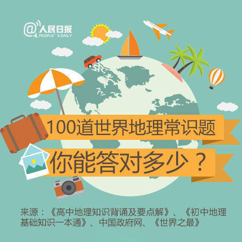 常识积累:100道世界地理常识题