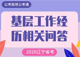 辽宁省考基层工作经历岗位有何要求?